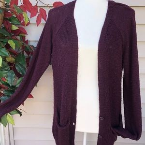 MUDD PURPLE CARDIGAN SIZE L